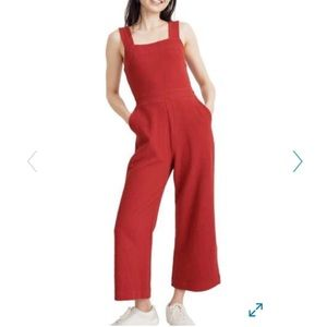 Madewell red jumpsuit